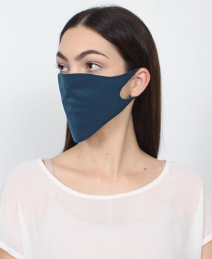 3 Pack Single Ply Reusable Face Mask - Teal