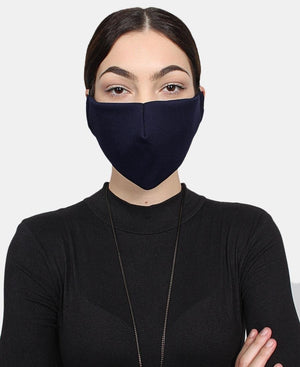 Single 1  Ply Cloth Face Masks - Navy