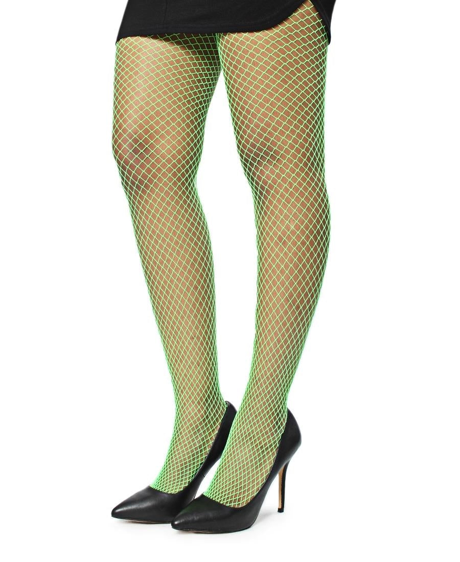 Fishnet Stockings - Light Green