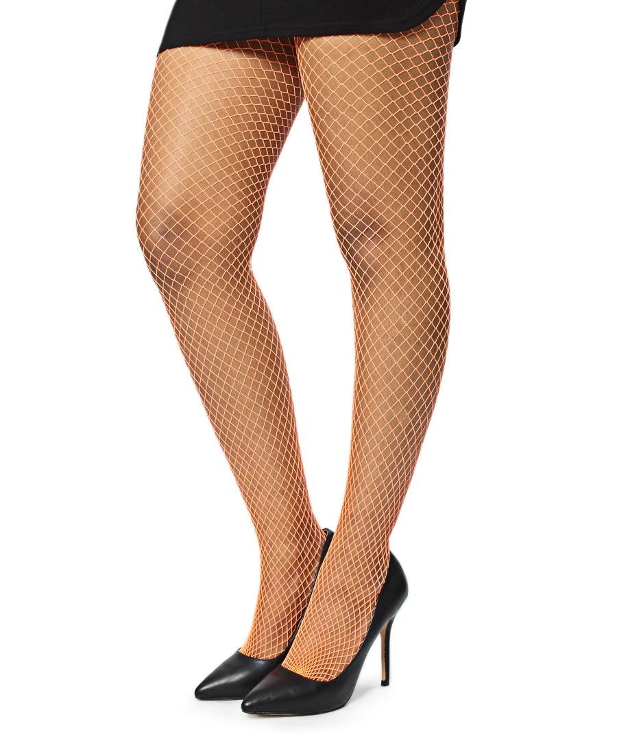 Fishnet Stockings - Orange