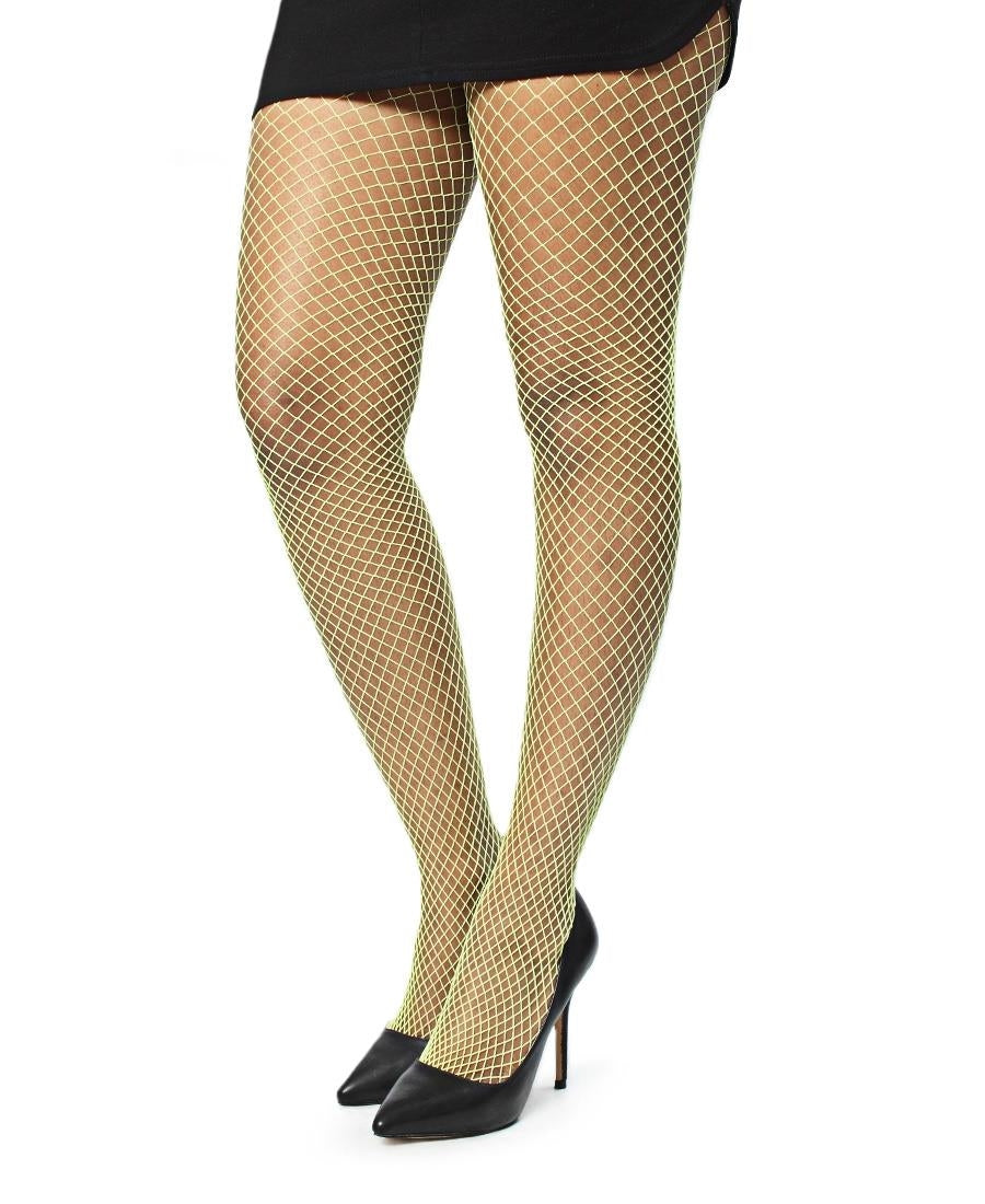 Fishnet Stockings - Yellow