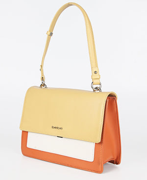 Colour Block Tote Bag - Yellow