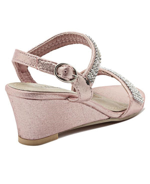 Girls Diamante Wedge - Pink