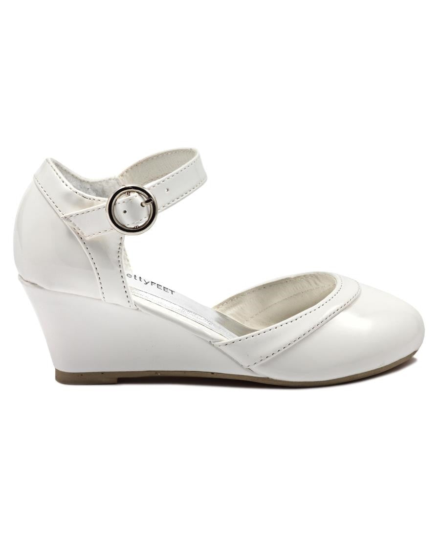 Girls Wedge - White