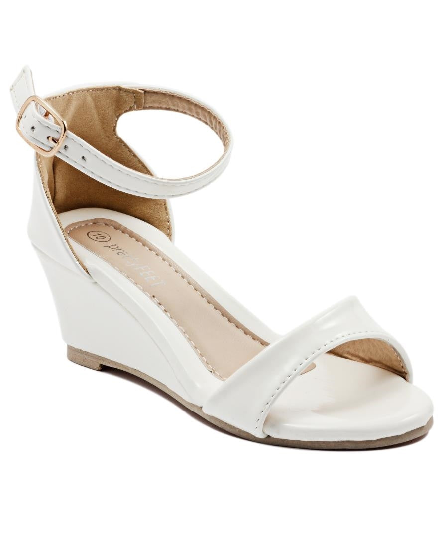 Girls Wedge Sandals - White
