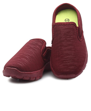Girls Slip On - Burgundy