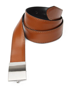 Leather Twist Reversable Belt - Tan-Black