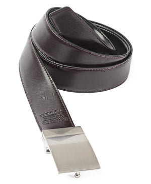 Leather Twist Reversable Belt - Black-Brown