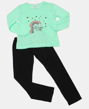 Girls Long Sleeve Top - Mint