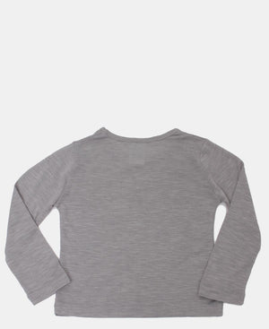 Girls Long Sleeve Top - Grey