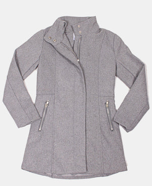 Girls Zip Up Jacket - Grey