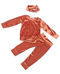 Infants Velour Tracksuit  - Brown