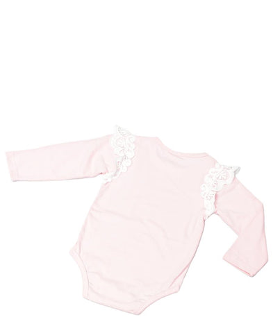 Infants Long Sleeve Romper - Pink