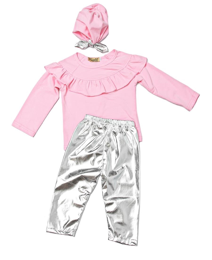 Girls Two Piece Outfit - Pink