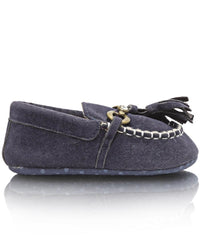 Infants Tassle Moccasins - Navy