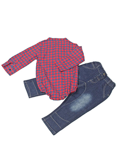 Infants Two Piece Outfit - Red