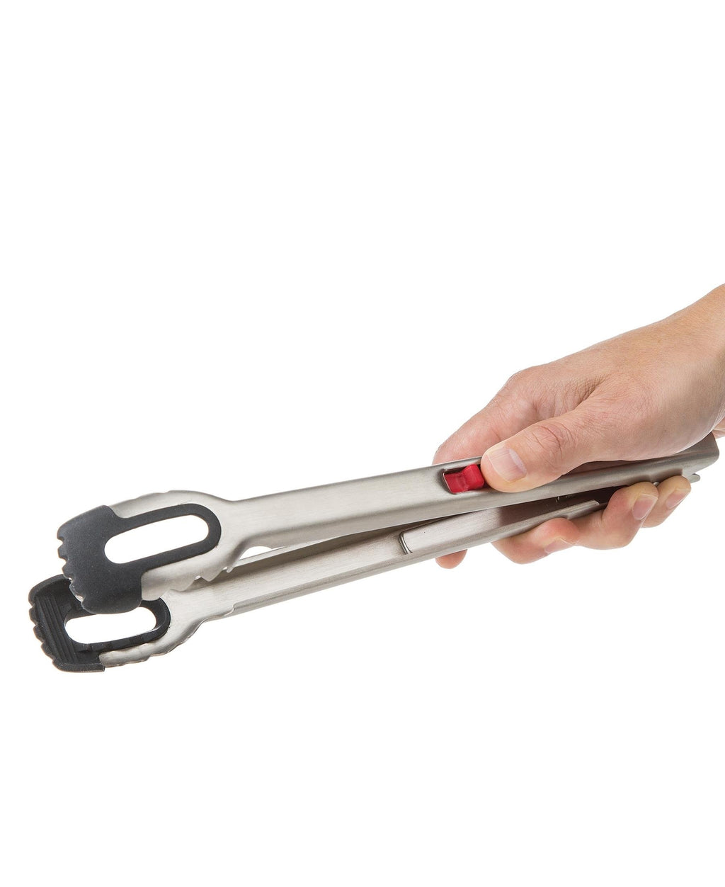 Progressive 22cm One Handed Locking Tongs - Silver