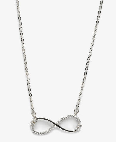 Sterling Silver Promise Necklace - Silver