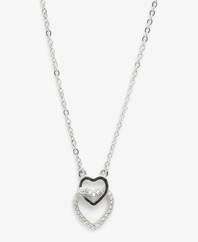 Sterling Silver Lovelocked Necklace - Silver