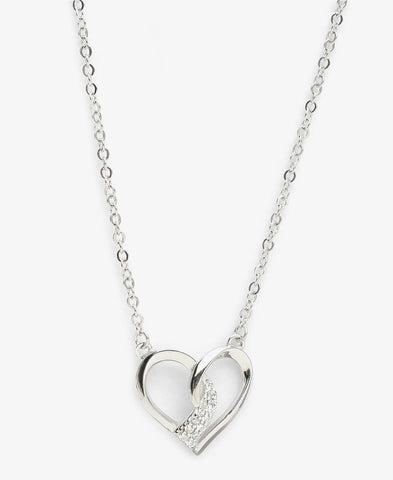 Sterling Silver XOXO Necklace - Silver