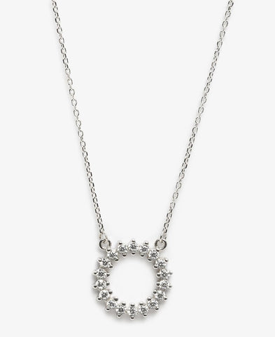 Sterling Silver Niqi Necklace - Silver