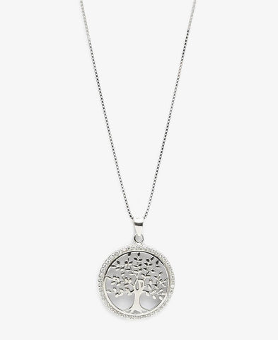 Sterling Silver Willow Necklace - Silver