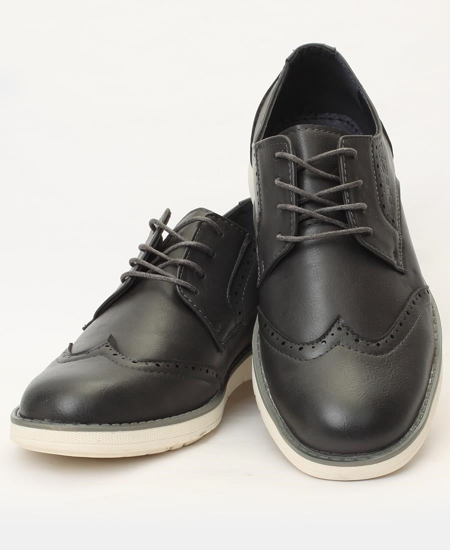 Lace Up Shoes - Grey
