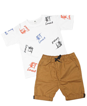 Boys Printed Tee - White