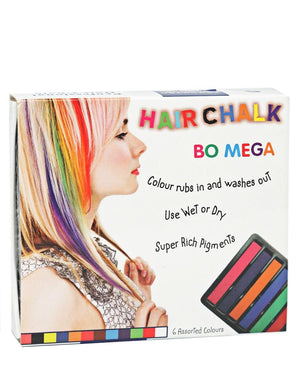 6 Colours Hair Chalk - Multi