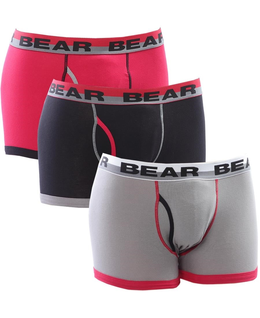 3Pk Bodyshorts - Black-Red