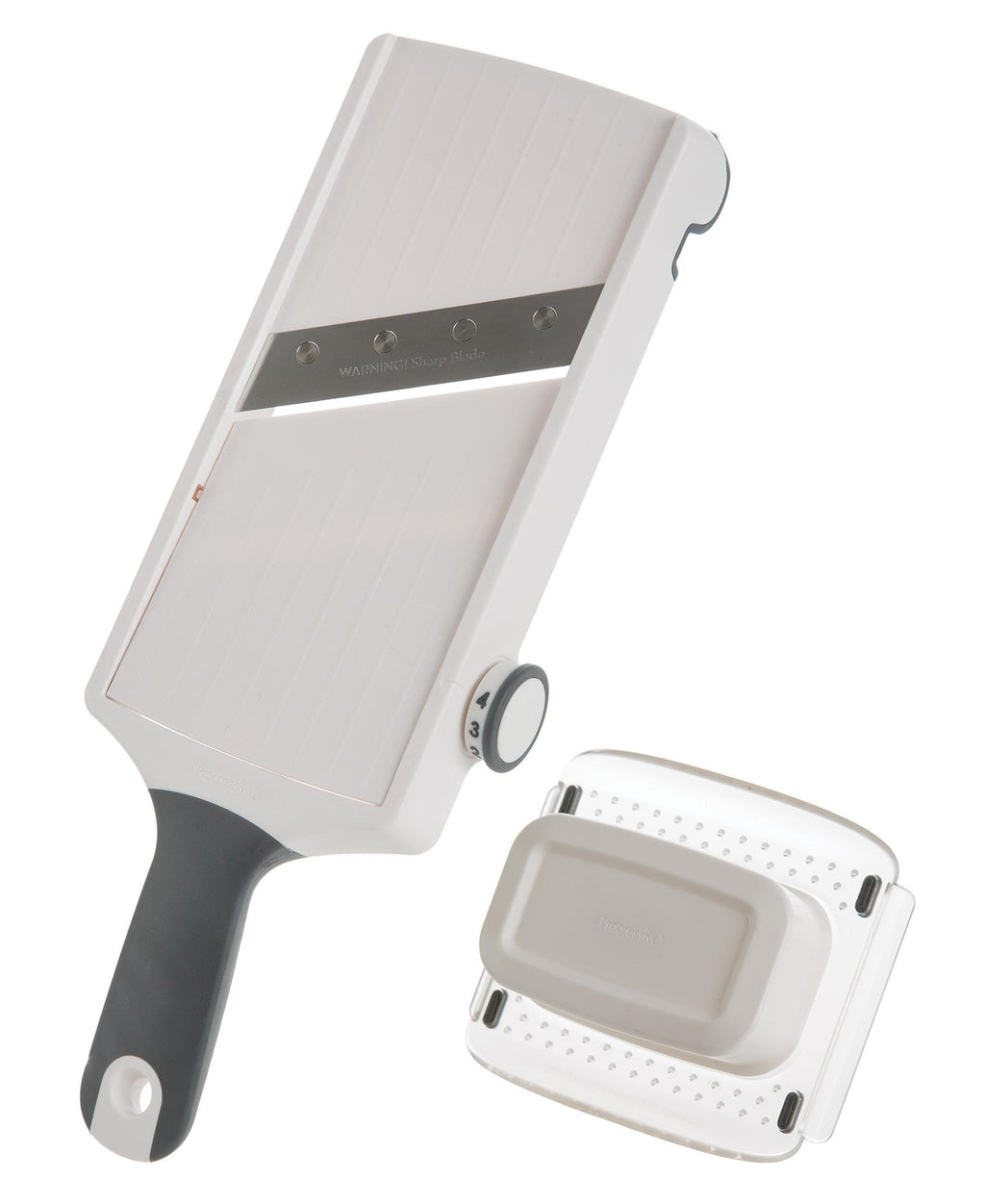 Progressive Hand Held Adjustable Slicer - White