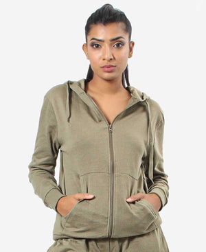 Ladies' Track Jacket - Olive