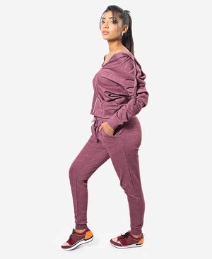 Ladies' Track Jacket - Burgundy