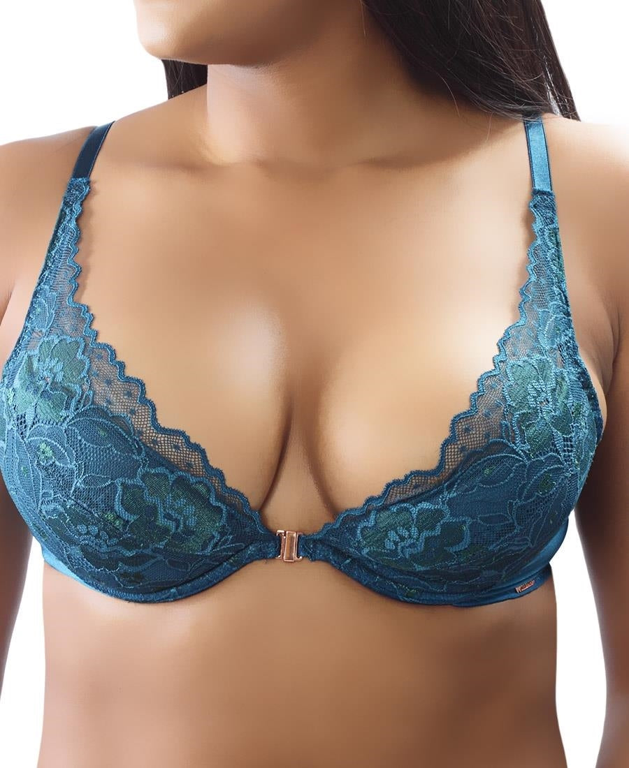 Deep Cleavage Bra - Blue