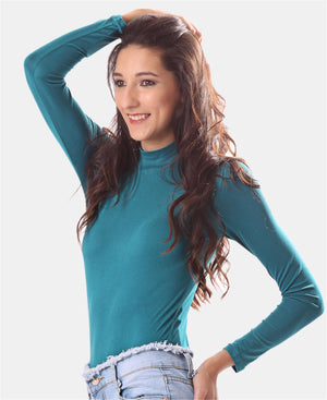 Long Sleeve Turtleneck - Teal