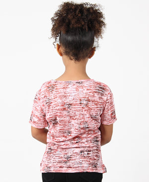 Girls Burn Out T-Shirt - Coral