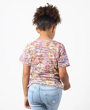 Girls Burn Out T-Shirt - Multi