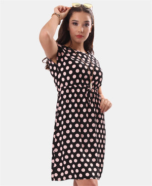 Polka Dot Tennis Dress - Black