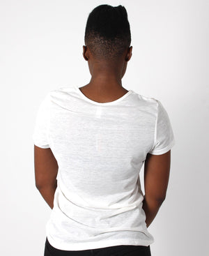 Short Sleeve Plain Tee - Cream