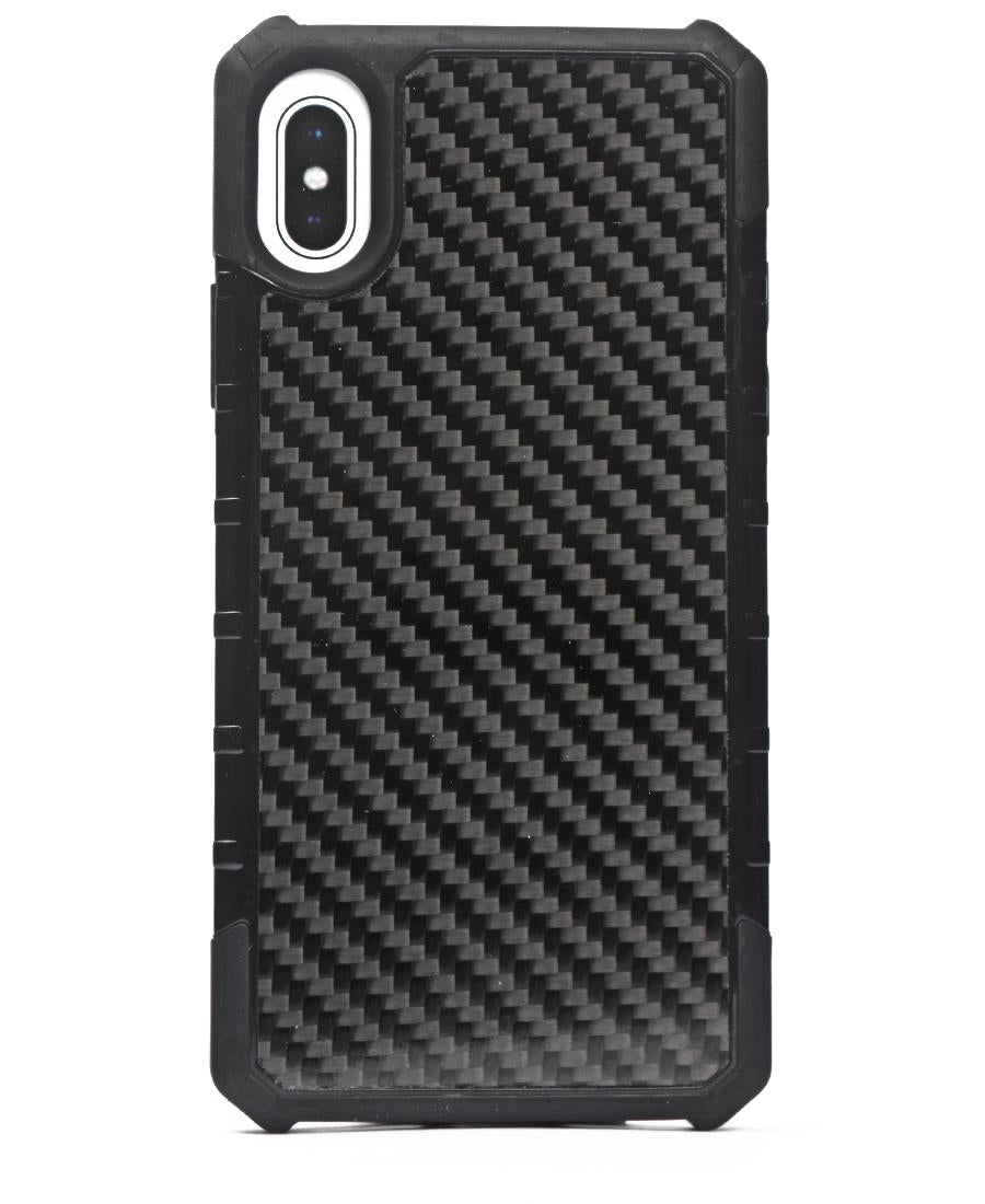 Iphone X Carbon Fibre Cover - Black