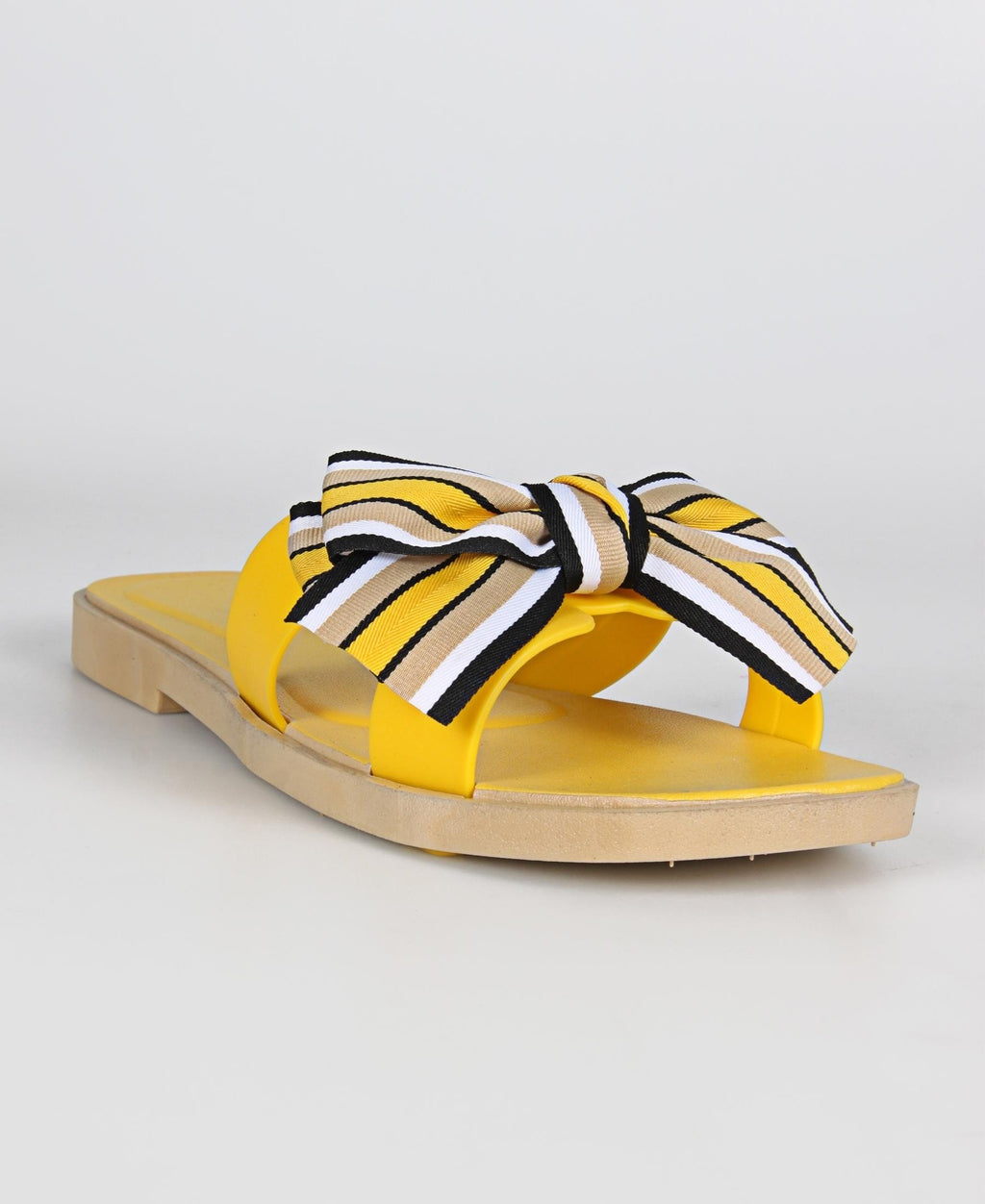 Ladies' Bow Detail Sandals - Yellow