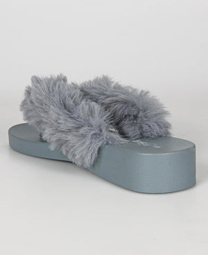 Ladies' Fluff Sandals - Grey