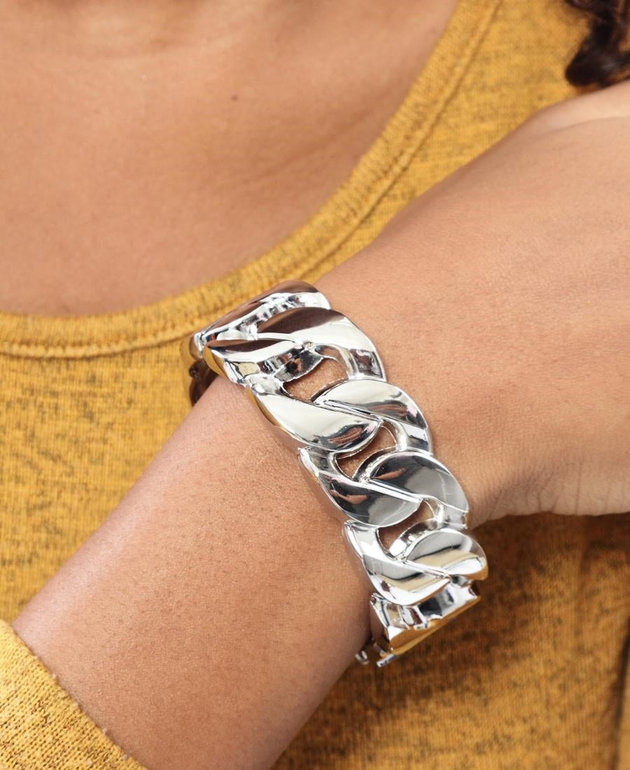 Thick Links Bracelet - Silver