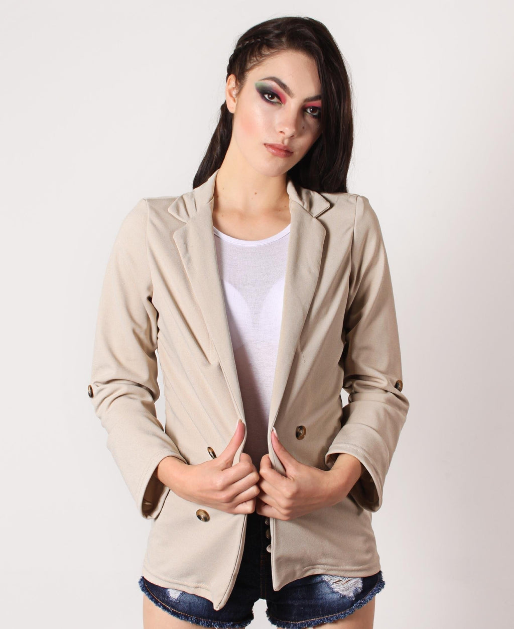 Loose Casual Blazer - Taupe