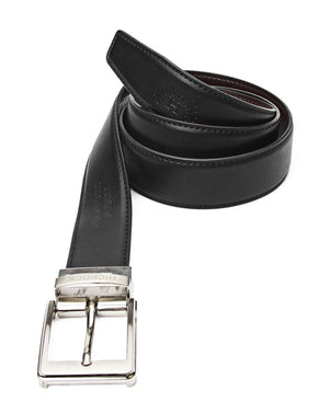 Leather Reversable Belt - Black