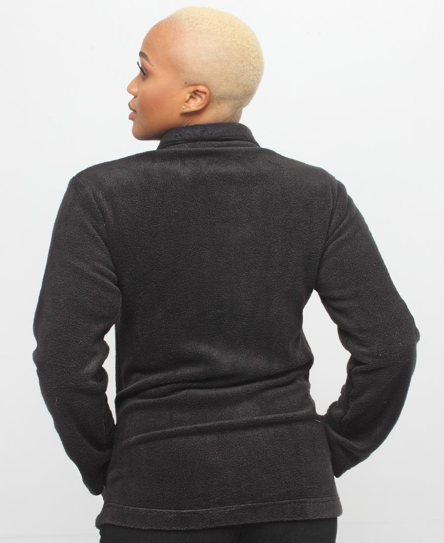Long Sleeve Fleece Jacket - Black