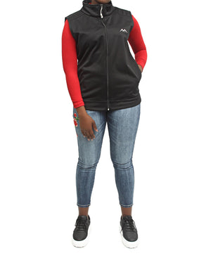 Soft Shell Sleeveless Jacket - Black