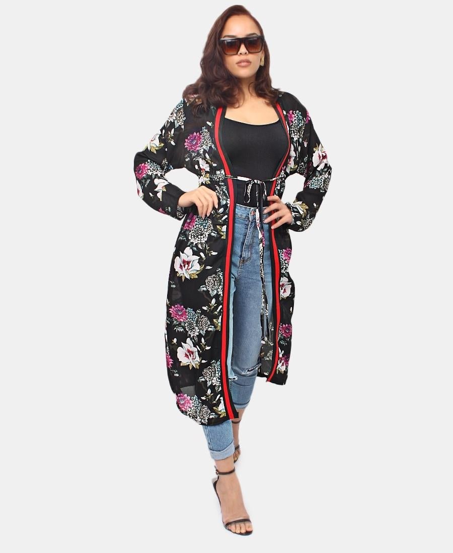 Floral Tunic - Black