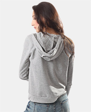 Ladies' Hoody Jacket - Grey