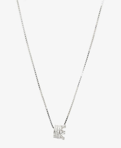 Sterling Silver Royalty Necklace - Silver